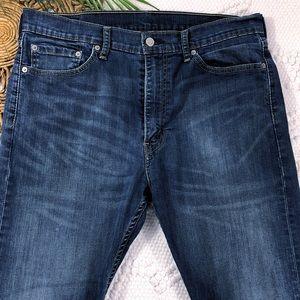 Levi's 513 Slim Straight Leg Dark Wash Jeans